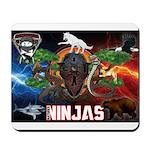 Natures Ninjas Fire & Ice Mousepad