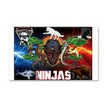 Natures Ninjas Fire & Ice Car Magnet 20 x 12