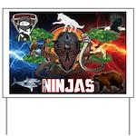 Natures Ninjas Fire & Ice Yard Sign