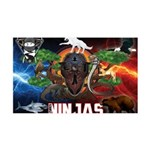 Natures Ninjas Fire & Ice Wall Decal