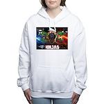 Natures Ninjas Fire & Ice Women's Hooded Sweatshir