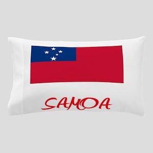 Samoa Flag Artistic Red Design Pillow Case