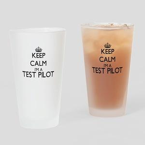 Keep calm I'm a Test Pilot Drinking Glass