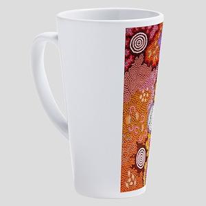 AUSTRALIAN ABORIGINAL ART 2 17 oz Latte Mug