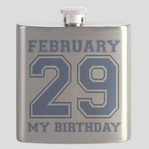 February 29 My Birthday Flask