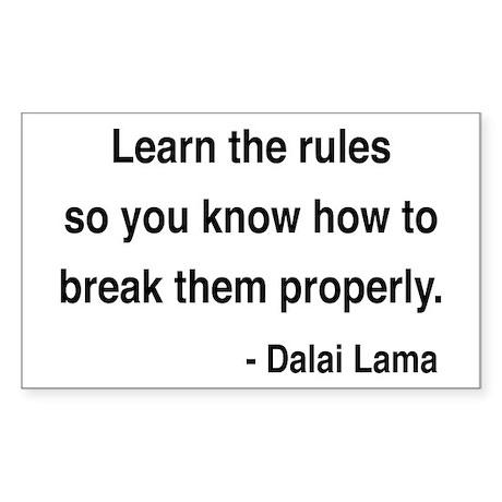 Dalai Lama 11 Rectangle Sticker
