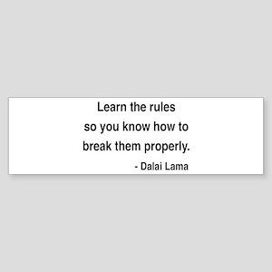 Dalai Lama 11 Bumper Sticker