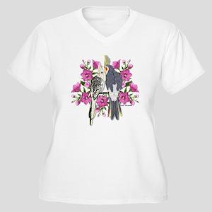 Cockatiel Mates Women's Plus Size V-Neck T-Shirt