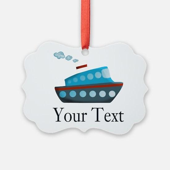 Personalizable Cruise Ship Ornament