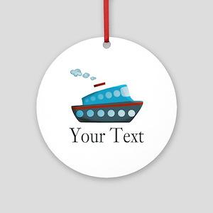 Personalizable Cruise Ship Ornament (Round)