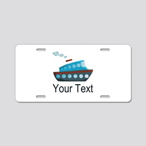 Personalizable Cruise Ship Aluminum License Plate