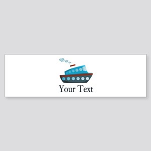 Personalizable Cruise Ship Bumper Sticker
