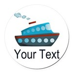 Personalizable Cruise Ship Round Car Magnet
