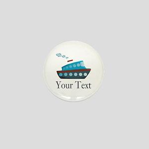 Personalizable Cruise Ship Mini Button
