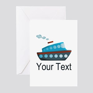 Personalizable Cruise Ship Greeting Cards