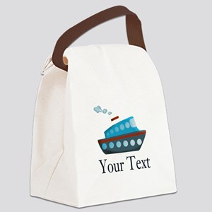 Personalizable Cruise Ship Canvas Lunch Bag