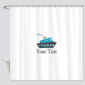 Personalizable Cruise Ship Shower Curtain