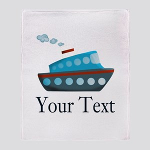 Personalizable Cruise Ship Throw Blanket