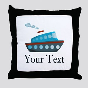 Personalizable Cruise Ship Throw Pillow