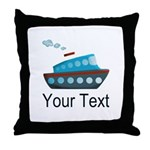 Personalizable Cruise Ship Throw Pillow