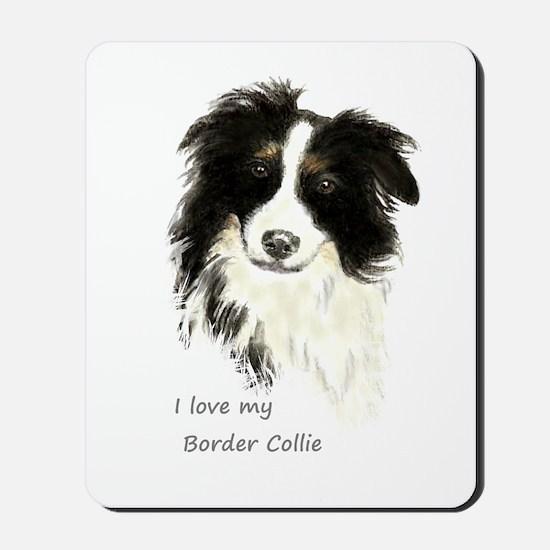 I Love My Border Collie Pet Dog Mousepad