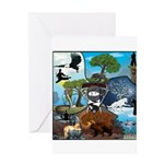 Natures Ninjas In The Seasons Greeting Cards