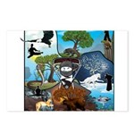 Natures Ninjas In The Seasons Postcards (Package o