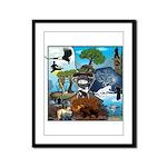 Natures Ninjas In The Seasons Framed Panel Print