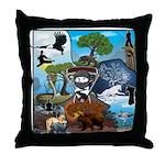 Natures Ninjas In The Seasons Throw Pillow