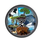 Natures Ninjas In The Seasons Wall Clock