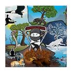Natures Ninjas In The Seasons Tile Coaster