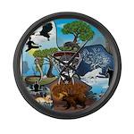 Natures Ninjas In The Seasons Large Wall Clock