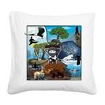 Natures Ninjas In The Seasons Square Canvas Pillow
