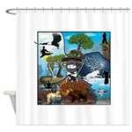Natures Ninjas In The Seasons Shower Curtain