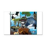 Natures Ninjas In The Seasons Rectangle Car Magnet