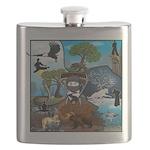 Natures Ninjas In The Seasons Flask