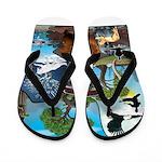 Natures Ninjas In The Seasons Flip Flops