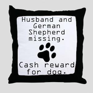 Husband And German Shepherd Missing Throw Pillow