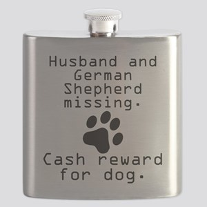 Husband And German Shepherd Missing Flask