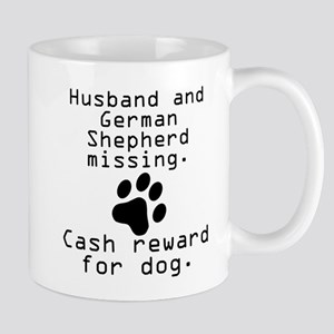 Husband And German Shepherd Missing Mugs