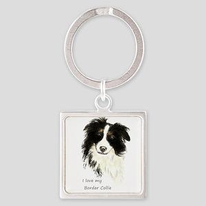 I love my Border Collie Pet Dog Keychains