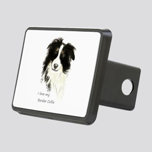 I love my Border Collie Pet Dog Rectangular Hitch