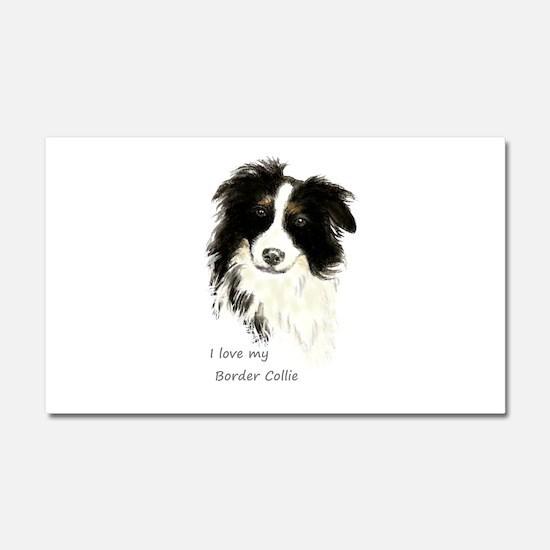I love my Border Collie Pet Dog Car Magnet 20 x 12