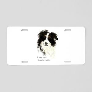 I love my Border Collie Pet Dog Aluminum License P