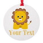 Personalizable Little Lion Ornament