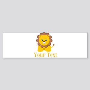 Personalizable Little Lion Bumper Sticker