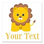 Personalizable Little Lion Square Car Magnet 3