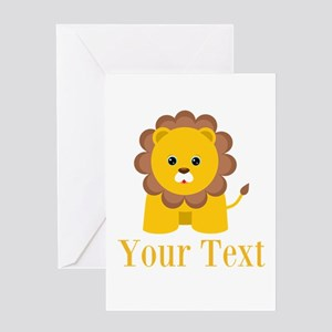 Personalizable Little Lion Greeting Cards
