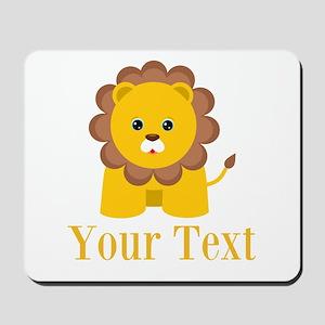 Personalizable Little Lion Mousepad