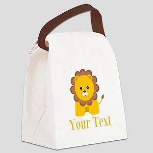 Personalizable Little Lion Canvas Lunch Bag